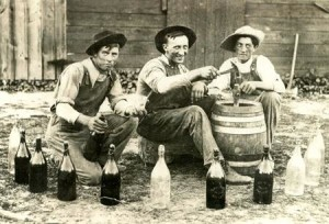 Much has changed in modern bottling lines. Hats and overalls are now optional. Don't be surprised if you see anybody wearing Kilts at Norsemen Brewing Co!